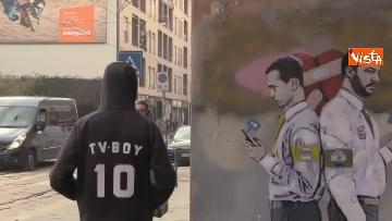 13 - I nuovo murales dello street artist Tvboy a Milano