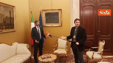 9 - L'intervista del presidente della Camera Roberto Fico all'Agenzia Vista