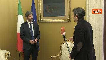 4 - L'intervista del presidente della Camera Roberto Fico all'Agenzia Vista