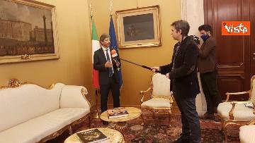 11 - L'intervista del presidente della Camera Roberto Fico all'Agenzia Vista