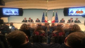 3 - Conte, Salvini e Bonafede in conferenza stampa a Chigi immagini