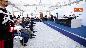 3 - Mattarella e Conte all'inaugurazione della sede unitaria dell'Intelligence