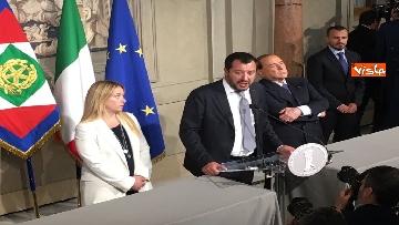 17 - Salvini, Berlusconi e Meloni dopo consultazioni con Mattarella
