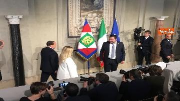 6 - Salvini, Berlusconi e Meloni dopo consultazioni con Mattarella