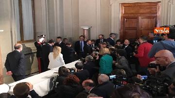 14 - Salvini, Berlusconi e Meloni dopo consultazioni con Mattarella