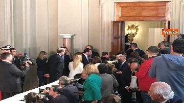 16 - Salvini, Berlusconi e Meloni dopo consultazioni con Mattarella