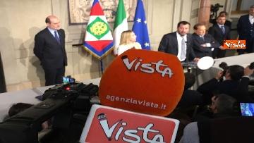 19 - Salvini, Berlusconi e Meloni dopo consultazioni con Mattarella