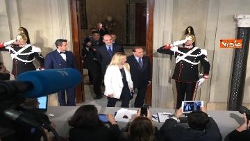 9 - Salvini, Berlusconi e Meloni dopo consultazioni con Mattarella