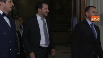 1 - Salvini, Berlusconi e Meloni dopo consultazioni con Mattarella
