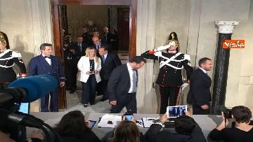 11 - Salvini, Berlusconi e Meloni dopo consultazioni con Mattarella