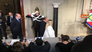 7 - Salvini, Berlusconi e Meloni dopo consultazioni con Mattarella
