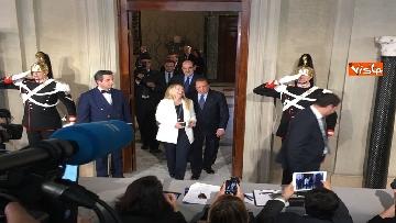 13 - Salvini, Berlusconi e Meloni dopo consultazioni con Mattarella