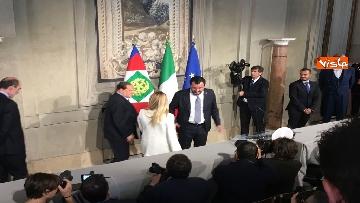 5 - Salvini, Berlusconi e Meloni dopo consultazioni con Mattarella
