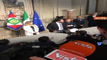 4 - Salvini, Berlusconi e Meloni dopo consultazioni con Mattarella
