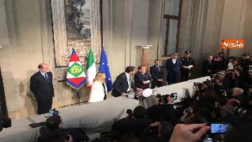 18 - Salvini, Berlusconi e Meloni dopo consultazioni con Mattarella