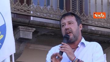 7 - Salvini a Voghera (Pavia) per il comizio elettorale, le immagini