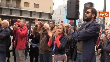 5 - 25 Aprile, deposte le corone in piazzale Loreto sotto il Monumento in ricordo dei Quindici Martiri