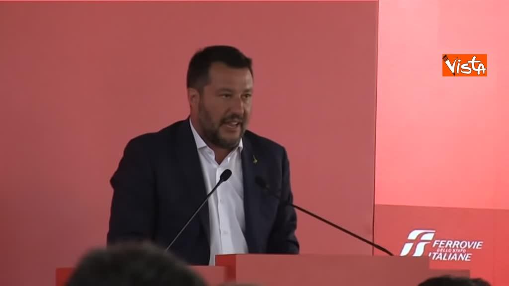 05-08-19 Hub Milano Rogoredo Fs presenta potenziamento con Battisti Toninelli Salvini_Il ministro dell'Interno Salvini 11