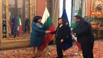 4 - Casellati riceve la presidente del parlamento bulgaro Tsveta Karayancheva