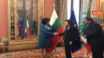 5 - Casellati riceve la presidente del parlamento bulgaro Tsveta Karayancheva