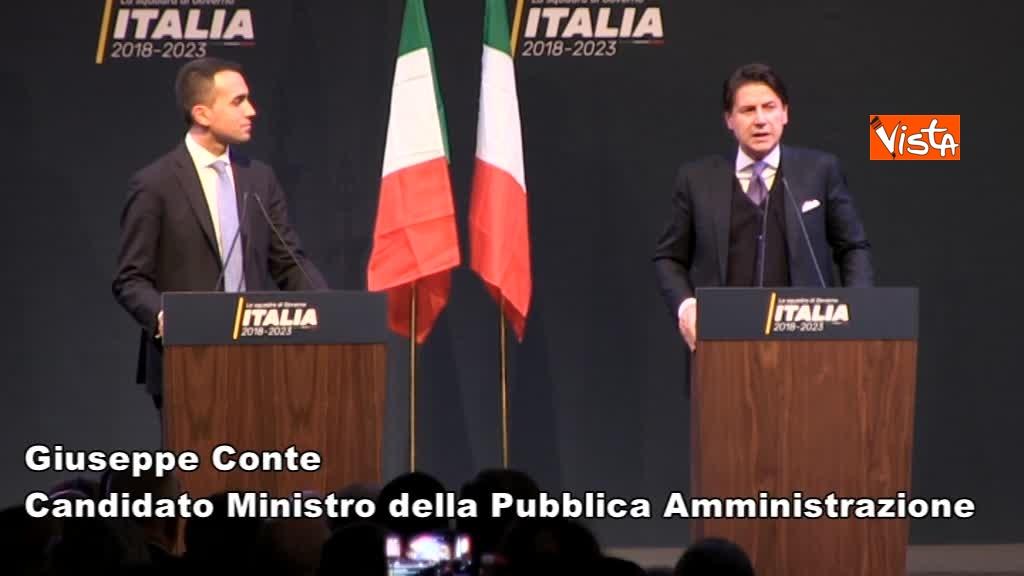 01-03-18 Di Maio presenta la possibile squadra del Governo M5s, ecco tutti i ministri
