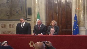 5 - 24-05-18 Consultazioni, la delegazione di Leu con Grasso, De Petris, Fornaro