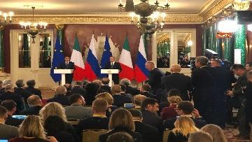 5 - Conte e Putin in conferenza stampa congiunta al Cremlino al termine dell'incontro istituzionale