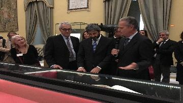 12 - La fortuna di Dante, Fico visita la mostra allestita a Montecitorio