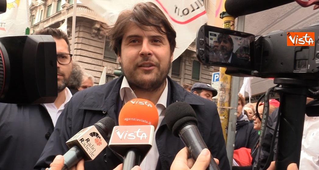 Buffagni alla manifestazione 25 Aprile a Milano