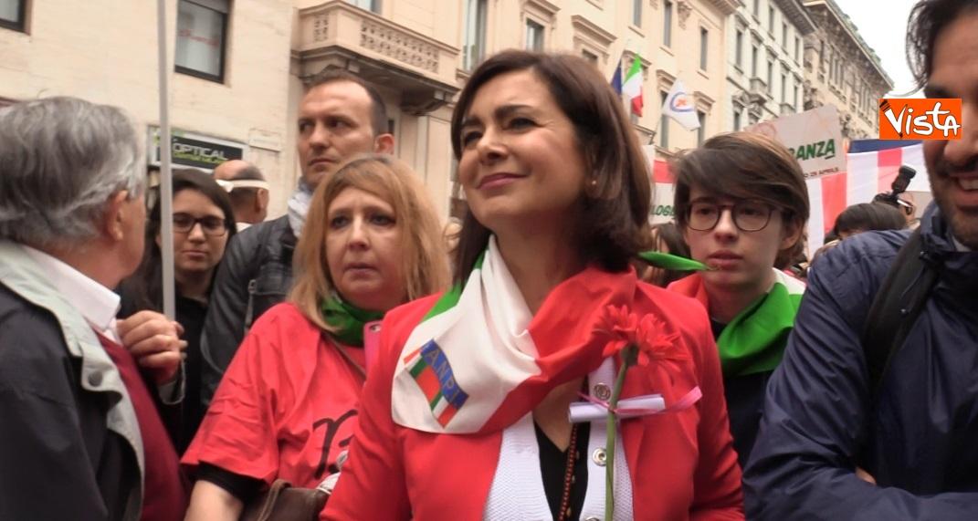 Boldrini alla manifestazione 25 Aprile a Milano