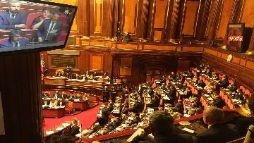 2 - L'intervento di Matteo Renzi al Senato dopo il discorso di Donte