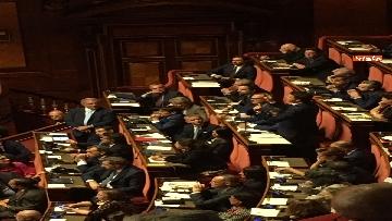 8 - L'intervento di Matteo Renzi al Senato dopo il discorso di Donte