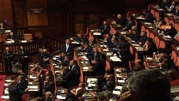 1 - L'intervento di Matteo Renzi al Senato dopo il discorso di Donte