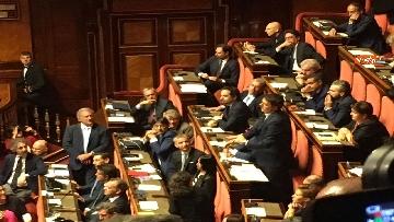 6 - L'intervento di Matteo Renzi al Senato dopo il discorso di Donte