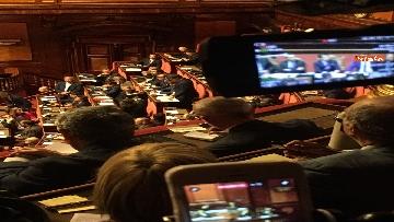 9 - L'intervento di Matteo Renzi al Senato dopo il discorso di Donte