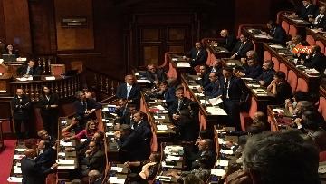 4 - L'intervento di Matteo Renzi al Senato dopo il discorso di Donte