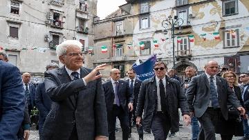 6 - Il presidente della Repubblica Mattarella visita il Rione Sanità