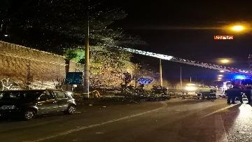 3 - Crollano le mura di Villa Mercede a Roma, paura nel quartiere San Lorenzo