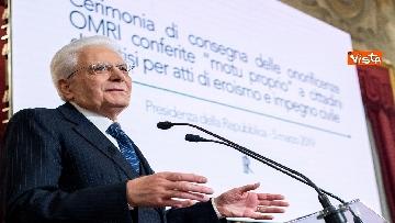 2 - Mattarella consegna onorificenze OIMR al Quirinale