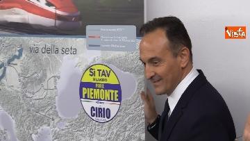5 - Regionali Piemonte, il candidato del centrodestra Cirio insieme alla lista Si Tav