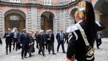 1 - Il presidente della Repubblica Mattarella visita il Rione Sanità
