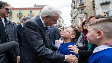 5 - Il presidente della Repubblica Mattarella visita il Rione Sanità