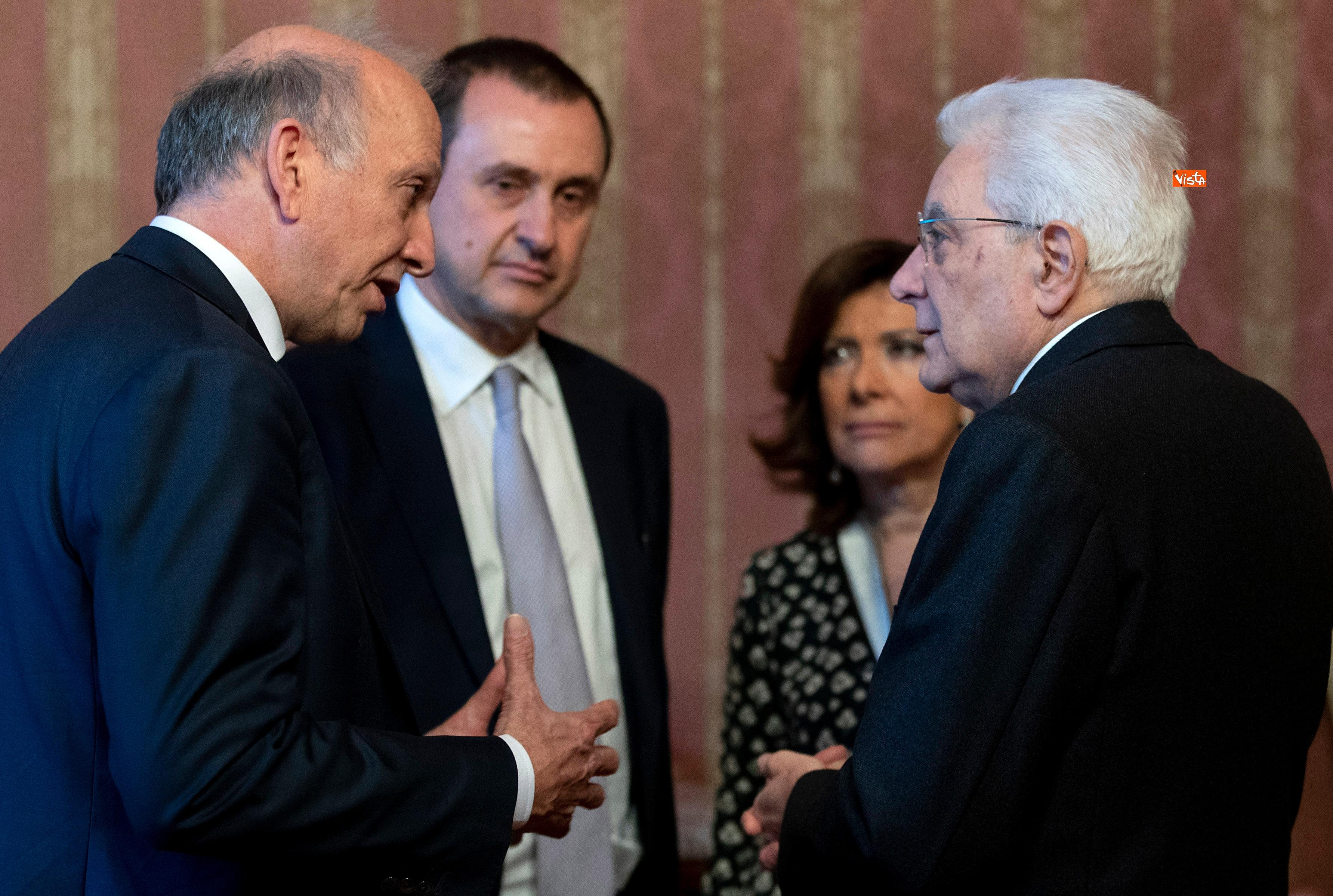 Il Presidente Mattarella, la presidente Casellati e il ministro Bussetti all'Accademia dei Lincei