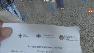 """4 - Da Fiumicino i voli sperimentali Roma-Milano """"Covid free"""" , test obbligatorio per imbarco. Le foto"""