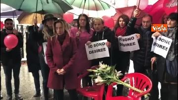 1 - Violenza donne, la manifestazione di FdI dedicata a Desireé Mariottini
