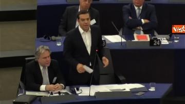 11 - Alexis Tsipras al Parlamento Ue per il dibattito sullo