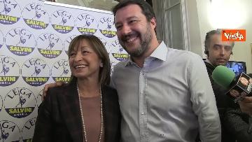 11 - 27-10-19 Salvini e Tesei in conferenza dopo i primi exit poll delle Regionali in Umbria