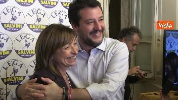 6 - 27-10-19 Salvini e Tesei in conferenza dopo i primi exit poll delle Regionali in Umbria