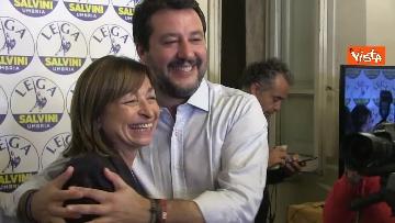 5 - 27-10-19 Salvini e Tesei in conferenza dopo i primi exit poll delle Regionali in Umbria