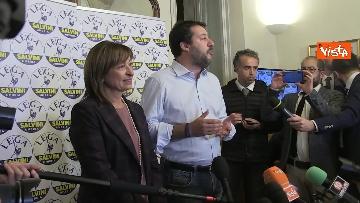 7 - 27-10-19 Salvini e Tesei in conferenza dopo i primi exit poll delle Regionali in Umbria